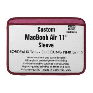 """Costume 11"""" Bordéus & rosa da luva de ar (h) de Bolsas De MacBook Air"""