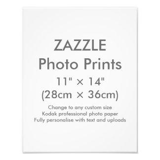 """Costume 11"""" de Zazzle × 14"""" modelo do impressão da Impressão De Foto"""