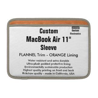 "Costume 11"" flanela & laranja da luva de ar (h) de bolsas de MacBook"
