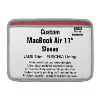 """Costume 11"""" jade & Fuschia da luva de ar (h) de Bolsa Para MacBook Air"""