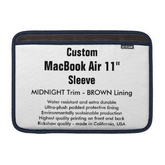 """Costume 11"""" meia-noite & Brown da luva de ar (h) Bolsas De MacBook"""