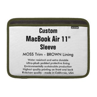 """Costume 11"""" musgo & Brown da luva de ar (h) de Bolsa De MacBook Air"""