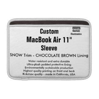 """Costume 11"""" neve & Brown da luva de ar (h) de Bolsa De MacBook"""