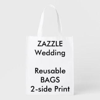 """Costume 12"""" do casamento x 16"""" saco reusável sacola ecológica"""