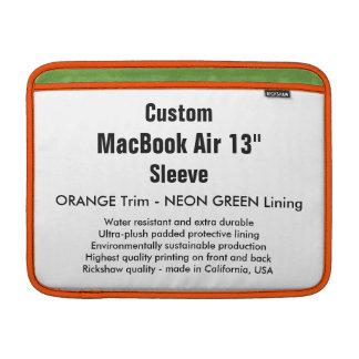 "Costume 13"" luva de ar (h) de MacBook alaranjada & Bolsa De MacBook Air"