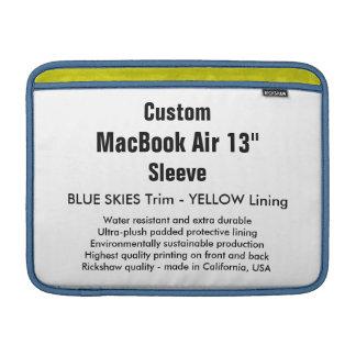 """Costume 13"""" luva de ar (h) de MacBook azul & Bolsa De MacBook"""