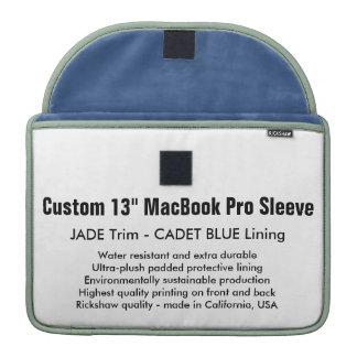 "Costume 13"" luva de MacBook Pro - azul do jade & Bolsa Para MacBook Pro"