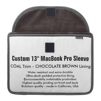 "Costume 13"" luva de MacBook Pro - carvão & Brown Capa Para MacBook"