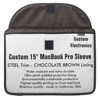 "Costume 15"" luva de MacBook Pro - aço & Brown Bolsas MacBook Pro"