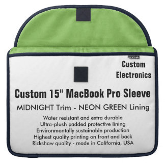 "Costume 15"" luva de MacBook Pro - meia-noite & Bolsas MacBook Pro"