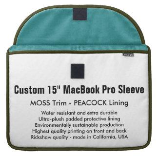 "Costume 15"" luva de MacBook Pro - musgo & pavão Bolsa MacBook Pro"
