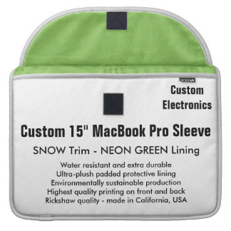 "Costume 15"" luva de MacBook Pro - neve & verde Capa Para MacBook"