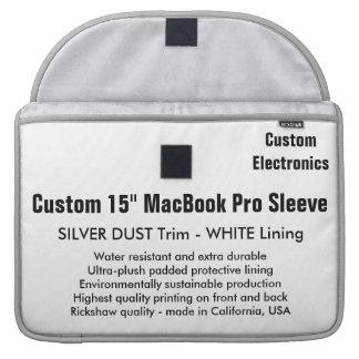 "Costume 15"" luva de MacBook Pro - prata & branco Bolsa Para MacBook"