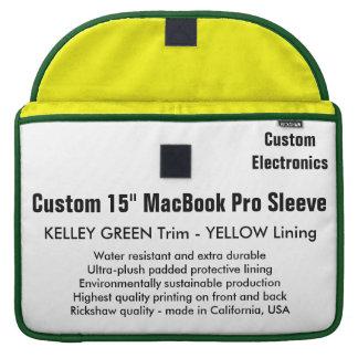 """Costume 15"""" luva de MacBook Pro - verde & amarelo Bolsas Para MacBook Pro"""