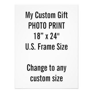 """Costume 18"""" x 24"""" tamanho de quadro dos E.U. do Impressão De Foto"""