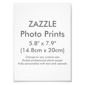 """Costume 5,8"""" de Zazzle x 7,9"""" modelo do impressão Impressão De Foto"""