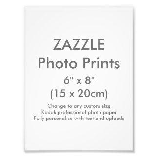 """Costume 6"""" de Zazzle x 8"""" modelo do impressão da Impressão De Foto"""