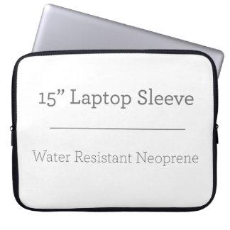 Costume a bolsa de laptop de 15 polegadas capa para computador