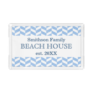 Costume branco azul da casa de praia de