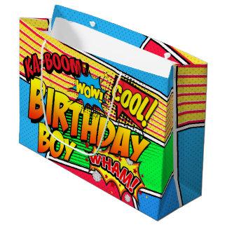Costume da festa de aniversário do super-herói da sacola para presentes grande