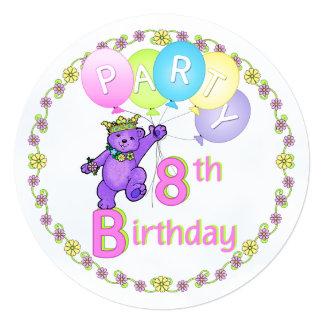 Costume da festa de aniversário do urso da convite personalizados