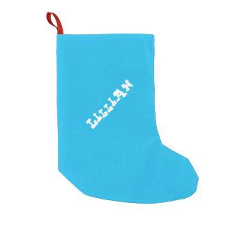 Costume do azul da festa na piscina bota de natal pequena