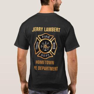 Costume do crachá do ouro do departamento dos t-shirt