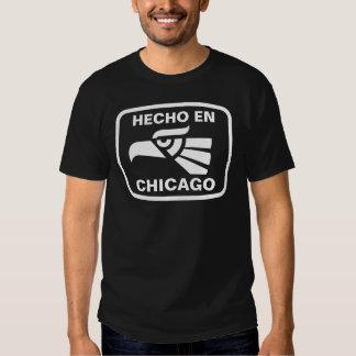 Costume do personalizado do en Chicago de Hecho Tshirt
