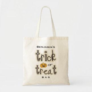 Costume dos doces da doçura ou travessura da bolsa tote