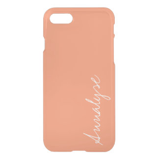 Costume na moda da cor sólida do melão da laranja capa iPhone 7