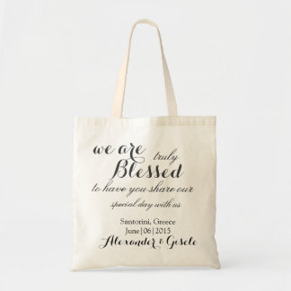 Costume nós somos sacola Wedding ABENÇOADA Sacola Tote Budget