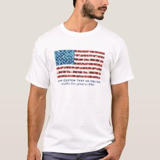Costume patriótico da camuflagem legal da bandeira camiseta