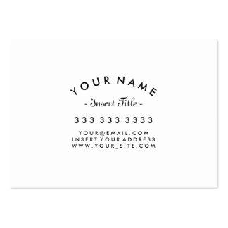 Costume preto e branco profissional curvado do cartão de visita grande
