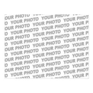 Costume sua cor do texto, da imagem & do fundo cartão postal