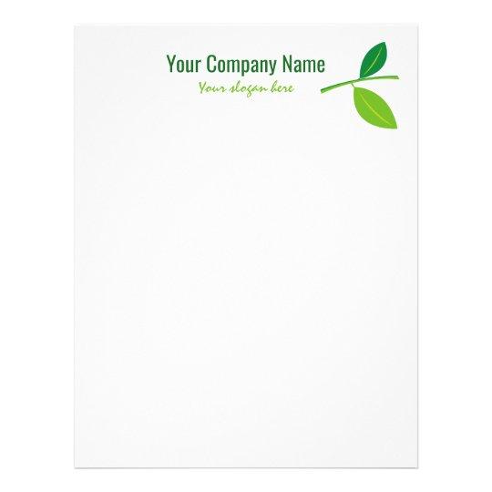 Costume verde do logotipo da empresa do jardineiro papel timbrado