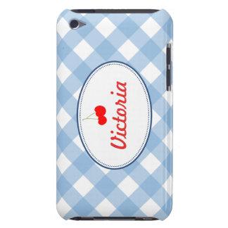 Costume vermelho da cereja do teste padrão azul do capas iPod touch Case-Mate
