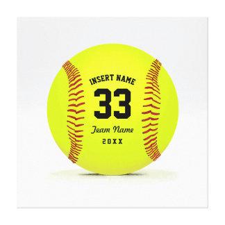 Costume vermelho e preto do amarelo do softball da impressão em tela