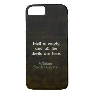 Cotação espirituoso cómico de William Shakespeare Capa iPhone 7
