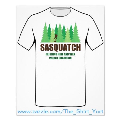 Couro cru de Bigfoot Sasquatch - e - procure o cam Panfleto Coloridos
