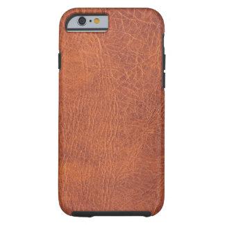 Couro de Brown Capa Tough Para iPhone 6