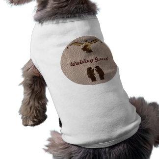 Couro-Olhar que Wedding brandamente Camisa Sem Mangas Para Cachorro