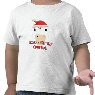 CowPoke do Feliz Natal Camiseta