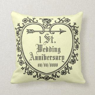 coxim do aniversário de casamento almofada
