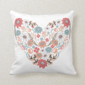 Coxim do coração da flor travesseiro de decoração