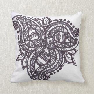 Coxim zentangled folha de Paisley Travesseiro