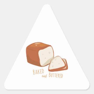 Cozido e psto manteiga adesivo triangular