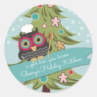 Cozimento do feriado da árvore de Natal do Adesivo