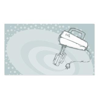 cozimento do misturador elétrico que cozinha o neg modelos cartao de visita