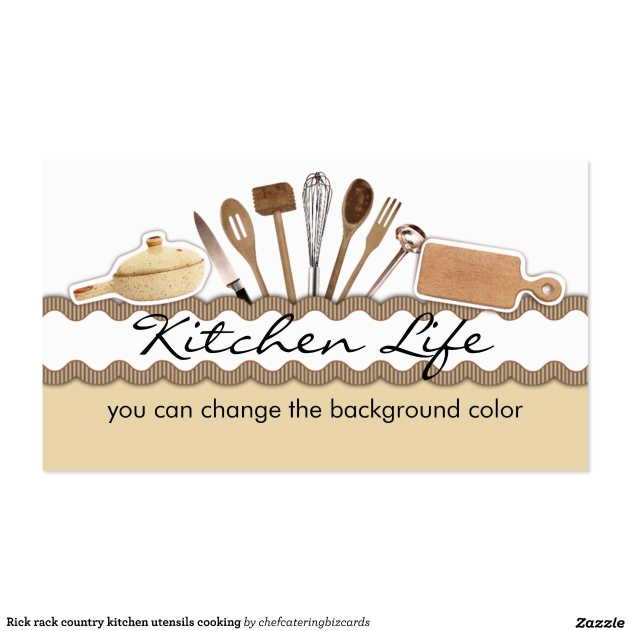 Cozimento dos utensílios da cozinha do país da cartão de visita  #A1452A 1296 1296