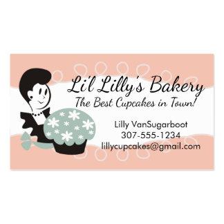 Cozimento gigante da padaria do cupcake da mulher cartão de visita